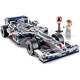 SuSenGo Building Block Set Formula One Racing Silver Arrows F1 Car Model Educational Toys for Kids Best Gift