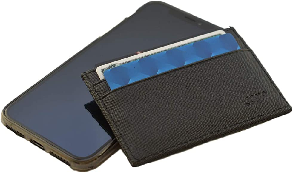 CONA Minimalist Card Wallet With ID Window amp Thumb Hole
