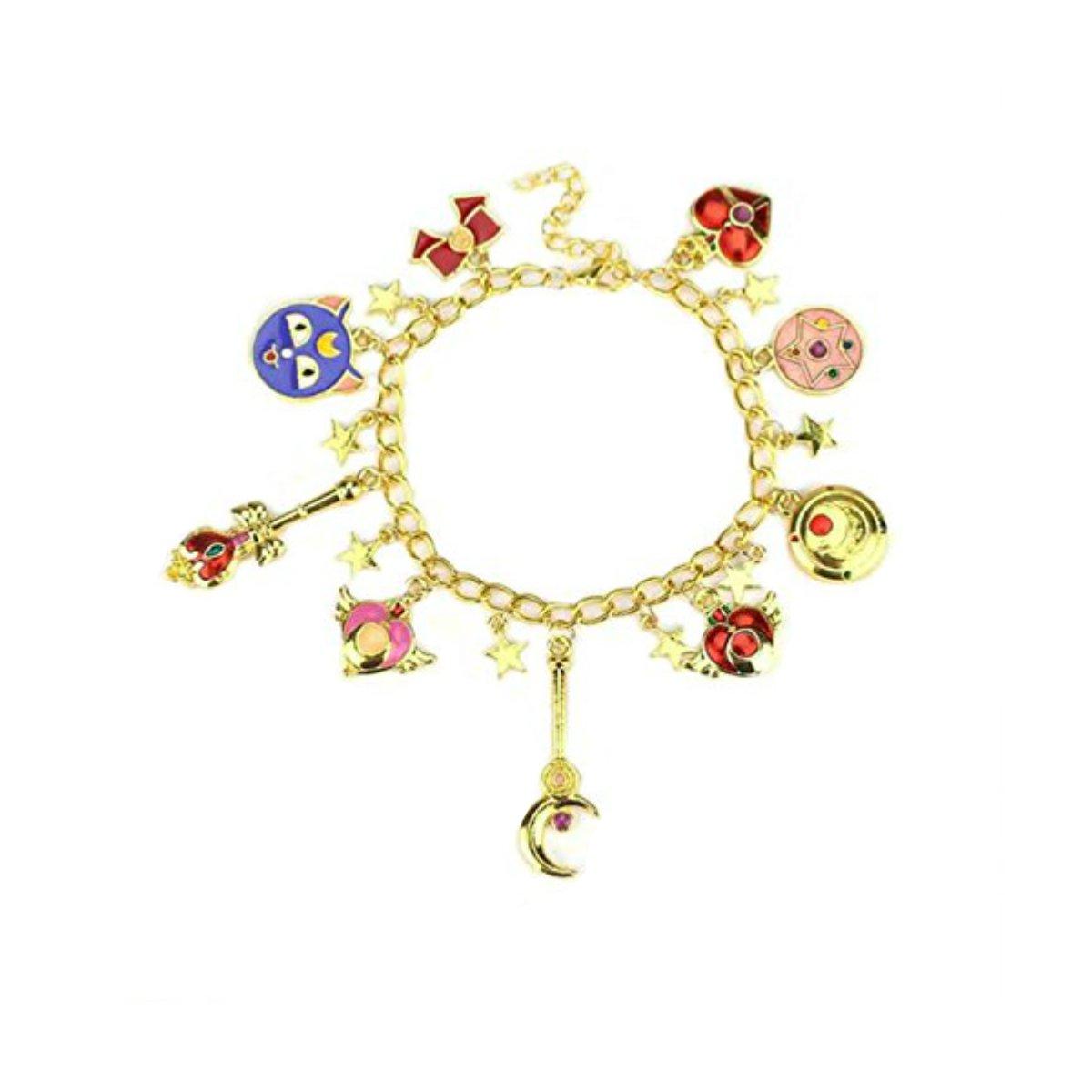 US FAMILY Sailor Moon Manga Anime Theme Multi Charms Jewelry Bracelets Charm by Family Brands