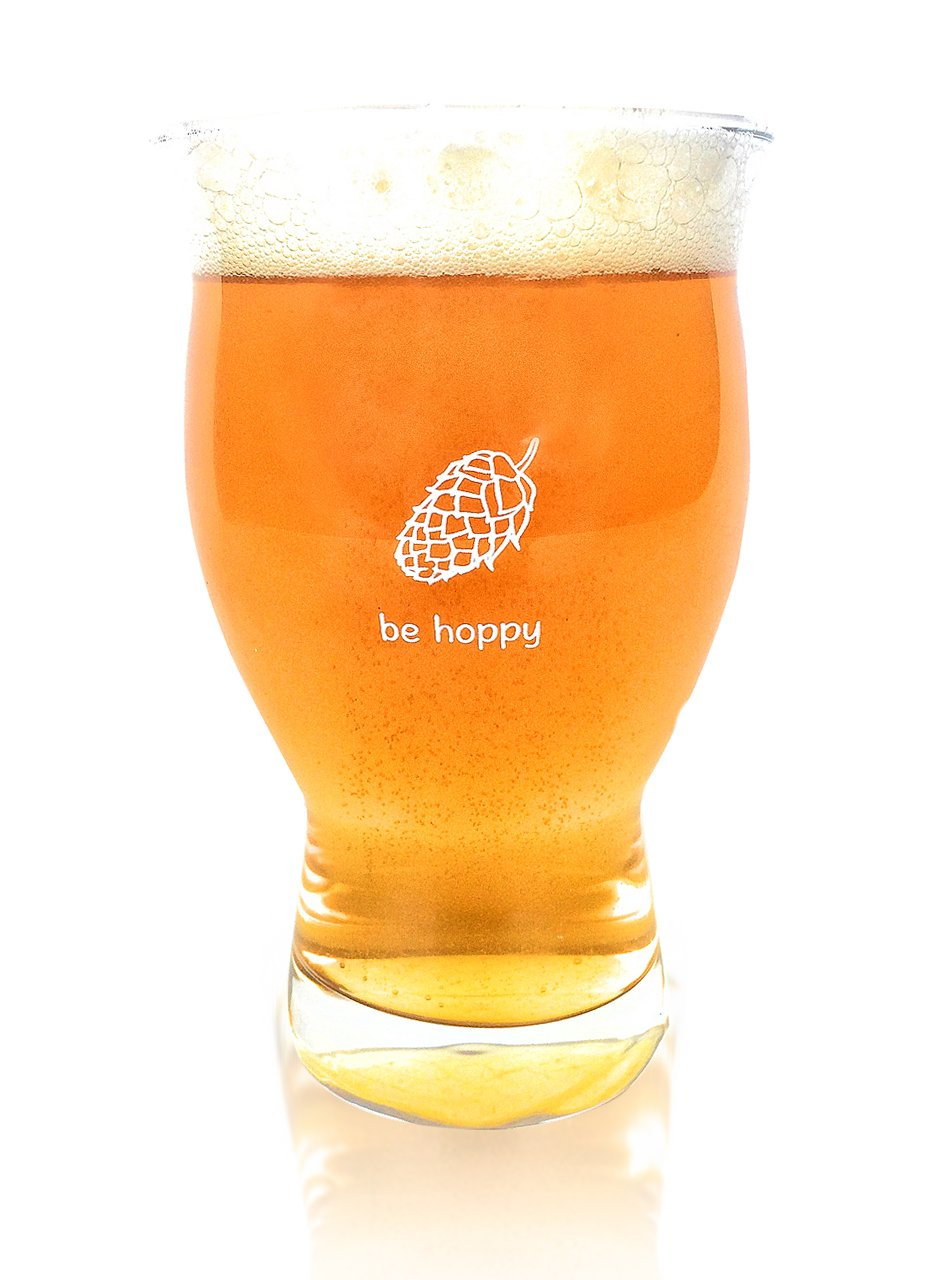 Ultimate Pint - Perfect Pint Glass to Explode Flavors and Maximize Beer Enjoyment - Exclusive Nucleated Hop Leaf Over 100 Points of Nucleation Cheers All SYNCHKG113717