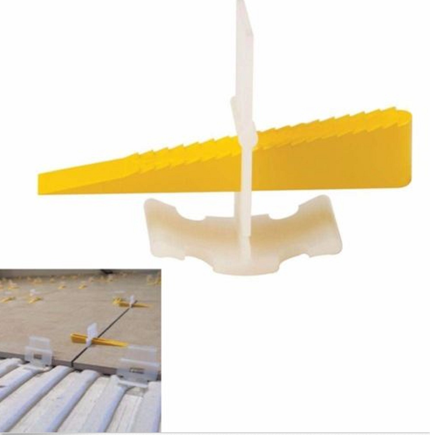 USA Premium Store 600 Tile Leveling System 400 Clips + 200 Wedges Tile Leveler Spacers Lippage