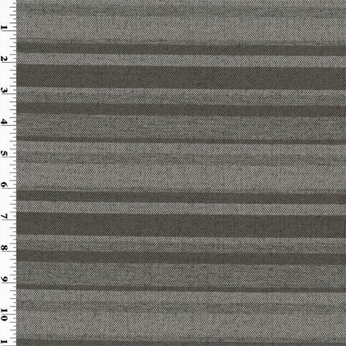 (Designer Charcoal Gray Pente Stripe Home Decorating Fabric, Fabric by The Yard)