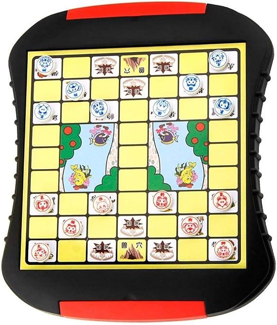 JTKDL Juego de viaje de ajedrez de animales de la jungla china Juego de jungla de ajedrez de animales chinos Juego de ajedrez educativo for niños Rompecabezas Juguetes Juego de ajedrez de