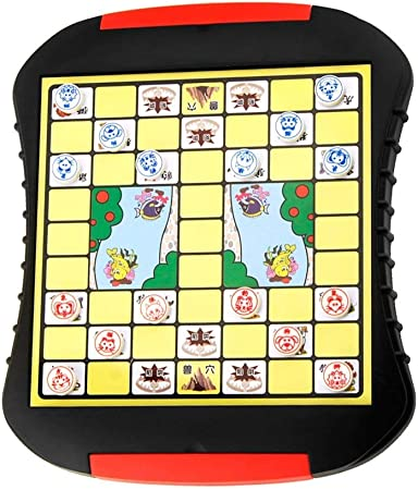 JTKDL Juego de viaje de ajedrez de animales de la jungla china Juego de jungla de