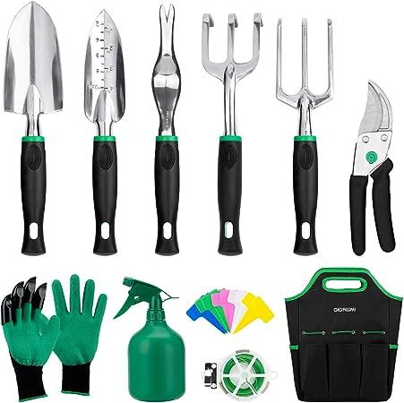 Amazon Com Gigalumi Garden Tools Set 11 Piece Heavy Duty