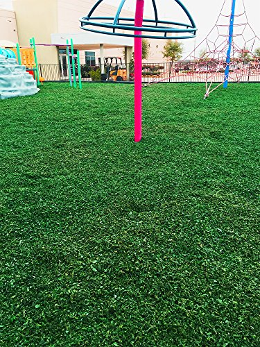(Colored Bulk Rubber Mulch for Playgrounds and Swing Sets [2000 Lbs] Recycled Tire Rubber Surfacing for Outdoor Safety - Eco-Friendly, Easy to Install and Incredibly Durable (Green))