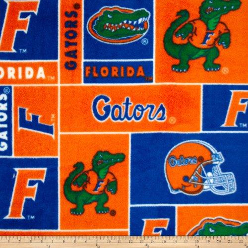 Florida Gators Fleece Fabric - Sykel Enterprises Collegiate Fleece University of Florida Fabric by The Yard, Multi