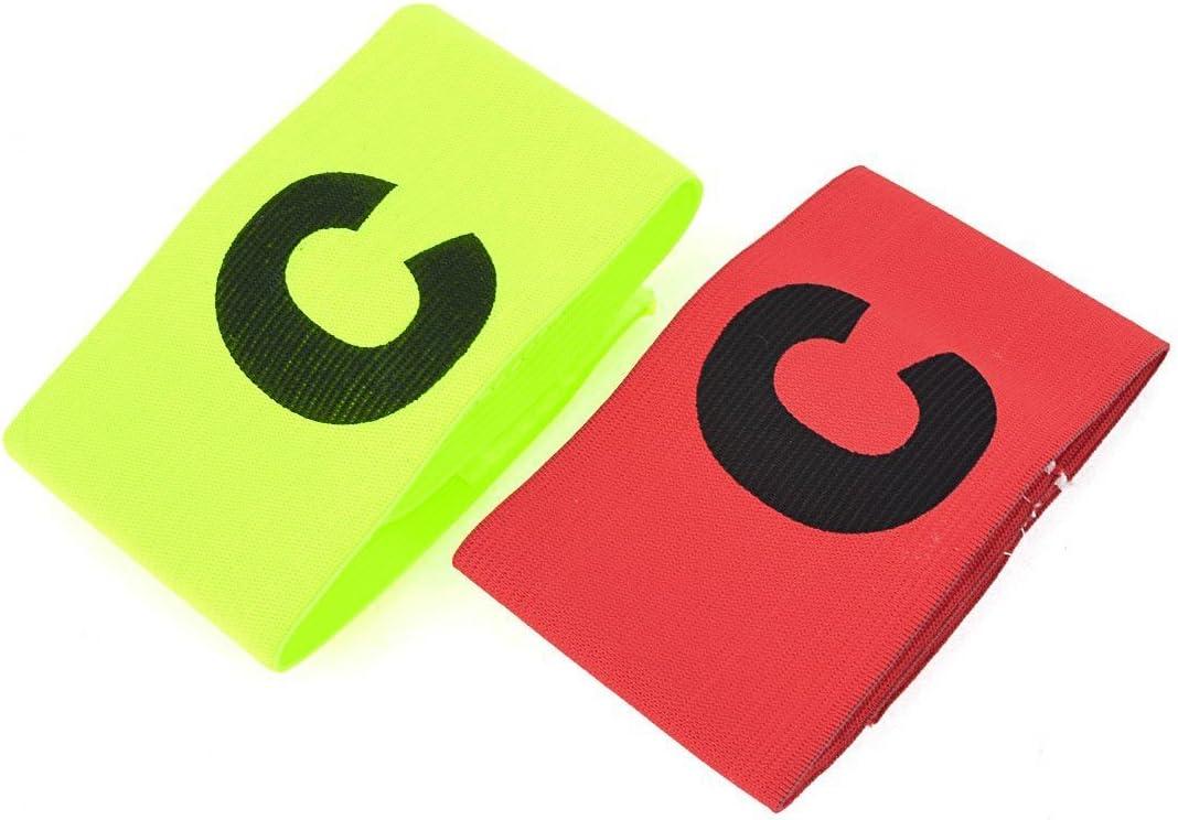 elastique brassard de capitaine de Football Badge gamme 2 PCS rouge jaune vert Brassard de capitaine R SODIAL