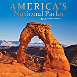 Americas National Parks 2018 12 Inch x 12 Inch Square Wall Calendar with Foil Stamped Cover by Plato, Yosemite Yellowstone