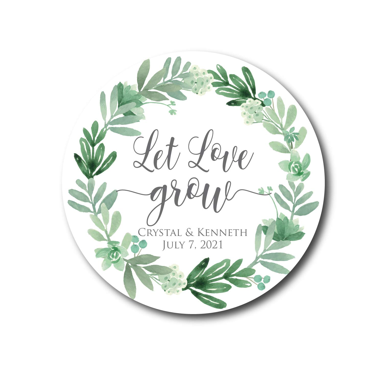 Let Love Grow Succulent Stickers