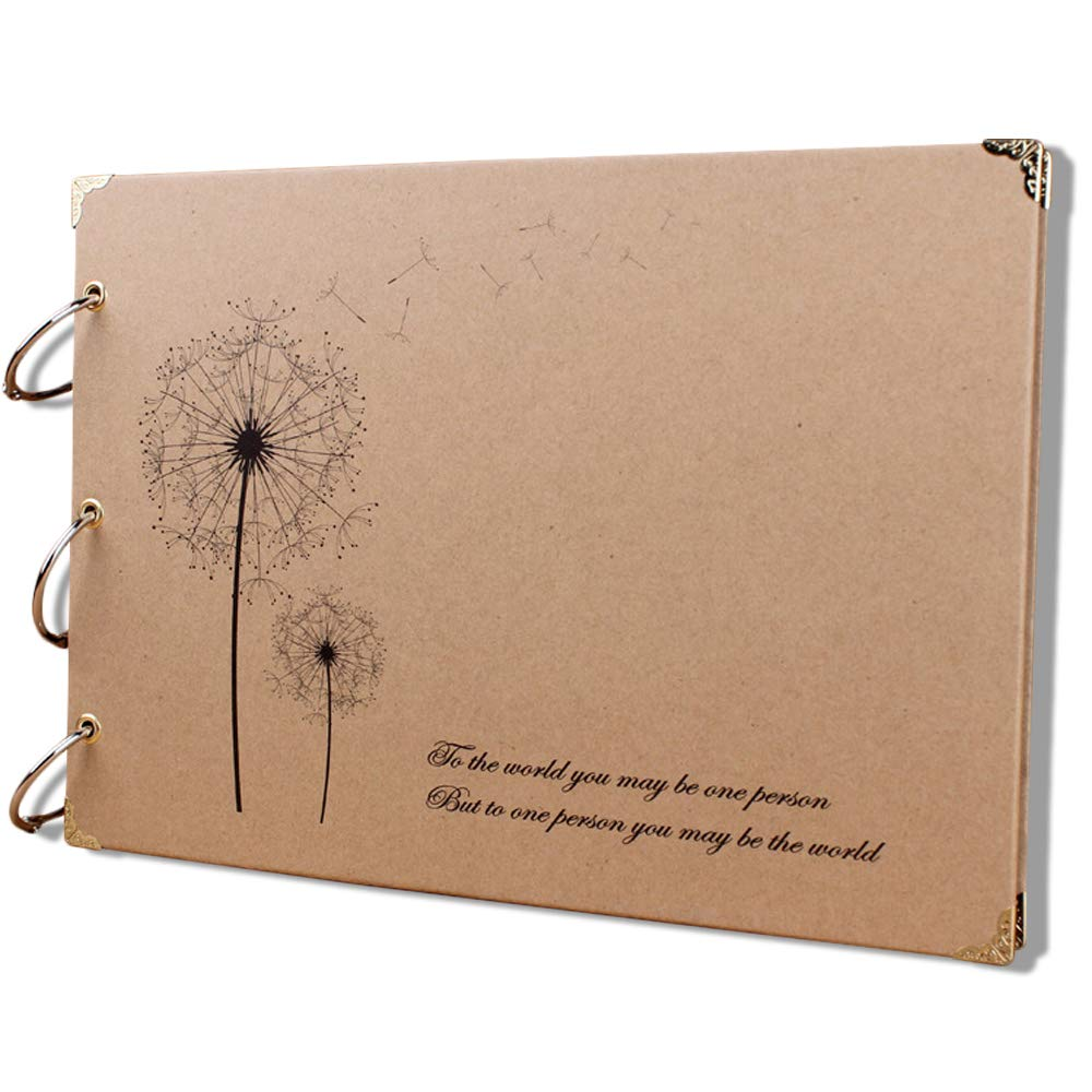 Vintage-DIY Scrapbook Fotoalbum handgefertigt erweiterbar Retro 30 Blatt // 60 Seiten Butterfly Love Flower nachf/üllbar aoory Scrapbook-Album