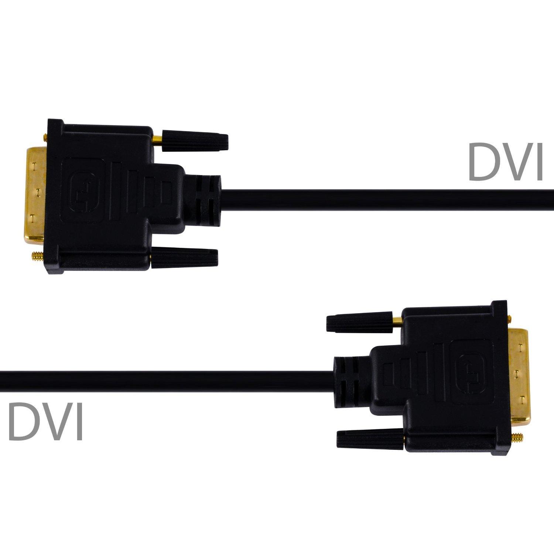 24+1 Dual link contacts dor/és 1m c/âble High Speed DVI-D m/âle vers DVI-D m/âle conducteur en cuivre /étam/é sans oxyg/ène O CSL r/ésolutions TV HD jusqu/'/à 2560x1600 2x noyaux ferrites