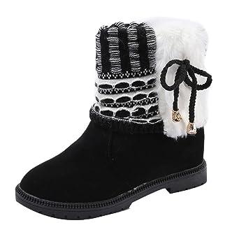 373d5fc51bb124 Stiefel Damen Kolylong® Frauen Elegant Stiefeletten Flach Herbst Winter  Warm Stiefel Kurz Vintage Stiefel Verdickte