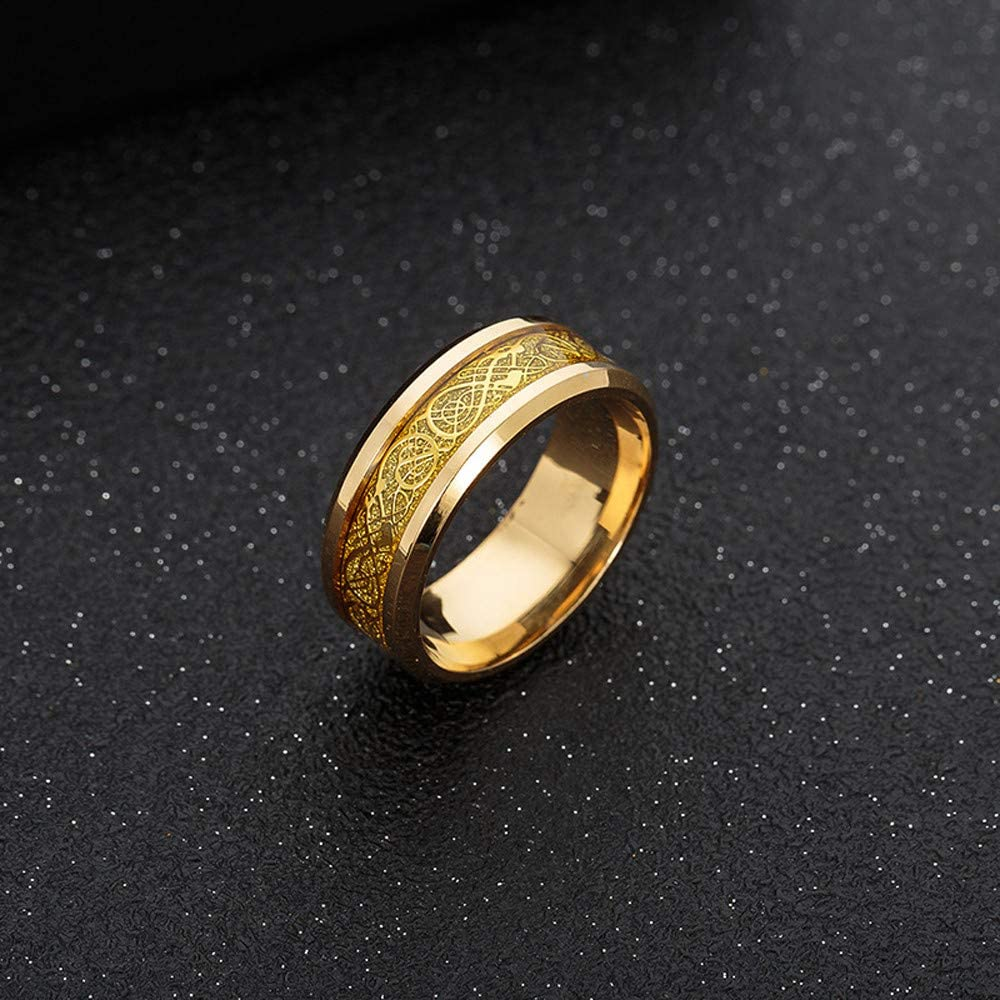 Stainless Steel Ring with Silver and Golden Punk Dragon Ring Toaimy Ear Pendants Titanium Steel Ring