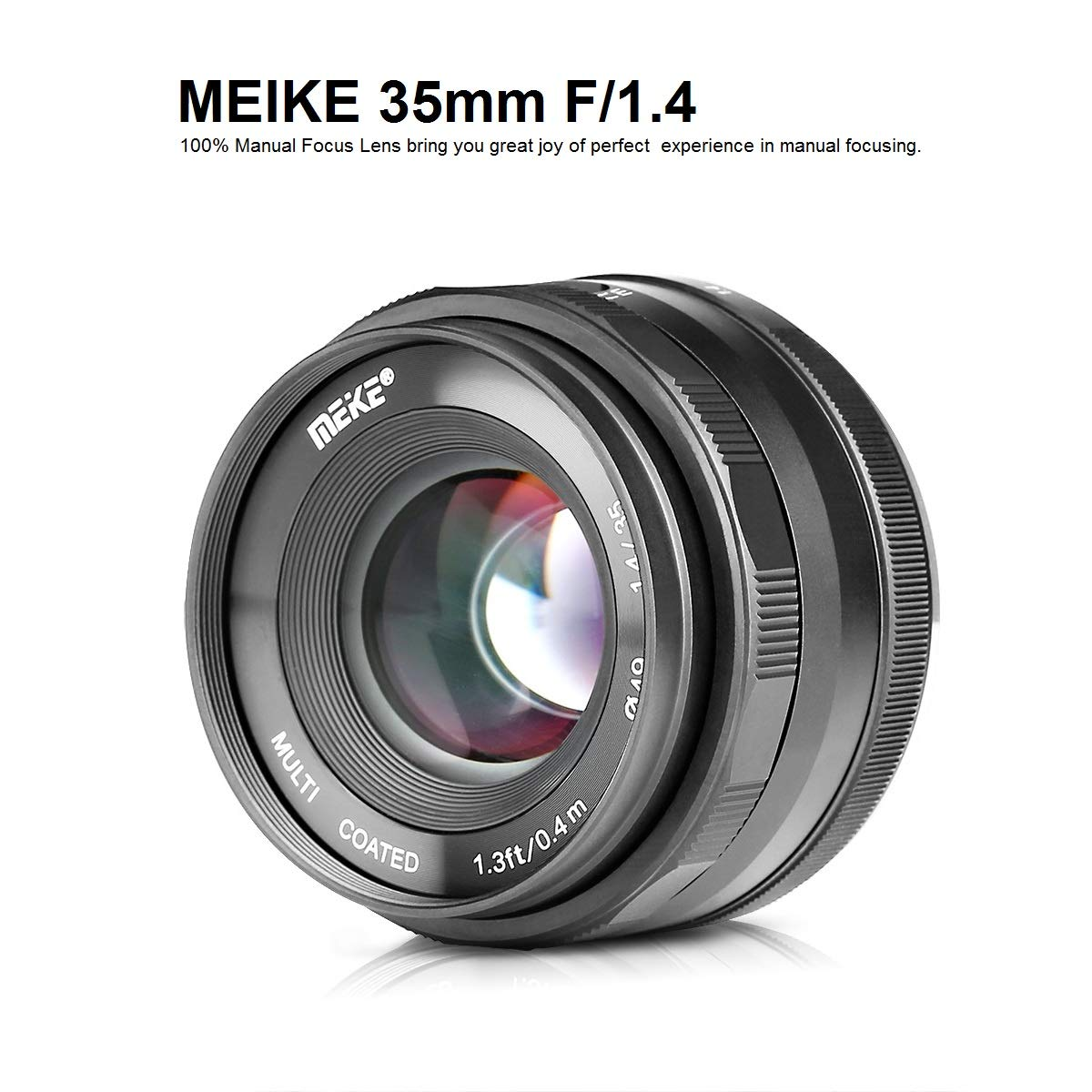 MEIKE MK-35mm F/1.4 Manual Focus Large Aperture Lens Compatible with Fujifilm Mirrorless Camera Such as X-T1 X-T2 X-T3 by Meike