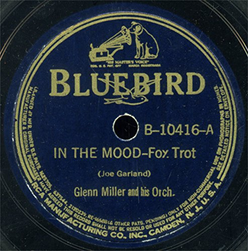 GLENN MILLER - Glenn Miller & His Orchestra Very Nice Original 10 Inch 78 Rpm - In The Mood / I Want To Be Happy - Bluebird Records B-10416 - 1943 - Zortam Music