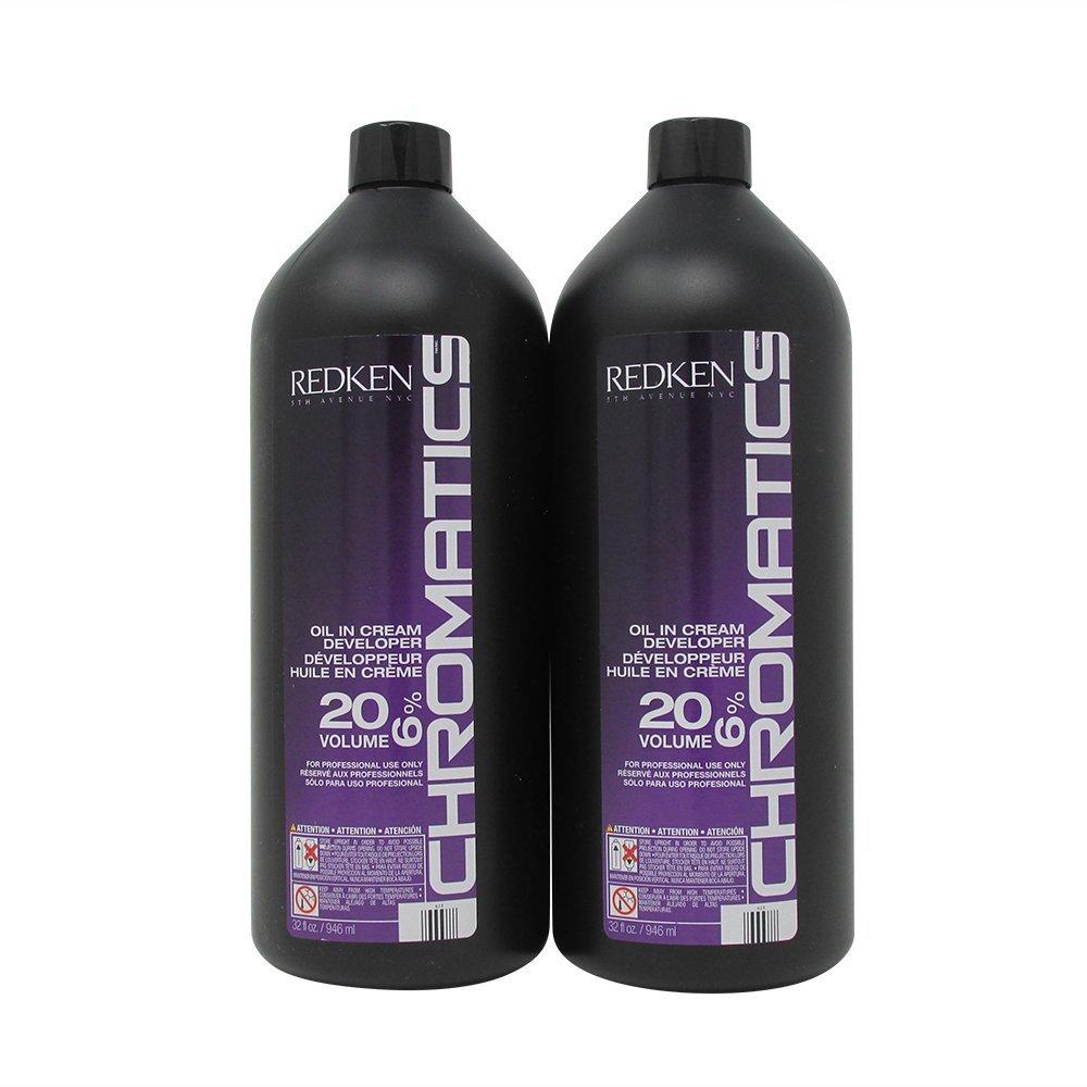 Bundle - 2 Items : Redken Chromatics Oil in Cream Developer, 32 Ounce (Pack of 2) by REDKEN