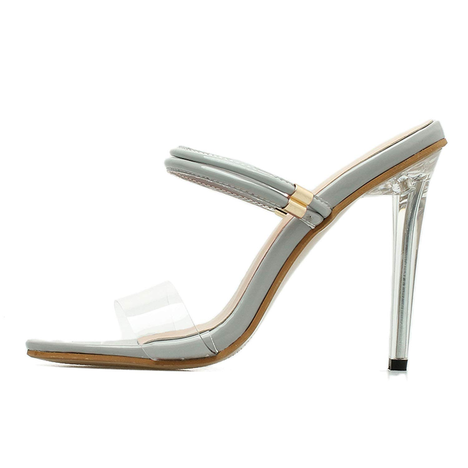 413d96e9cf0 Amazon.com | Women Summer Sandals PVC Clear Transparent Mule Slide ...