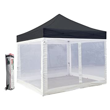 Basic 10 X 10 Ez Pop up Canopy Mesh Party Tent with 4 Screen Side Walls  sc 1 st  Amazon.com : canopy tent with screen sides - memphite.com