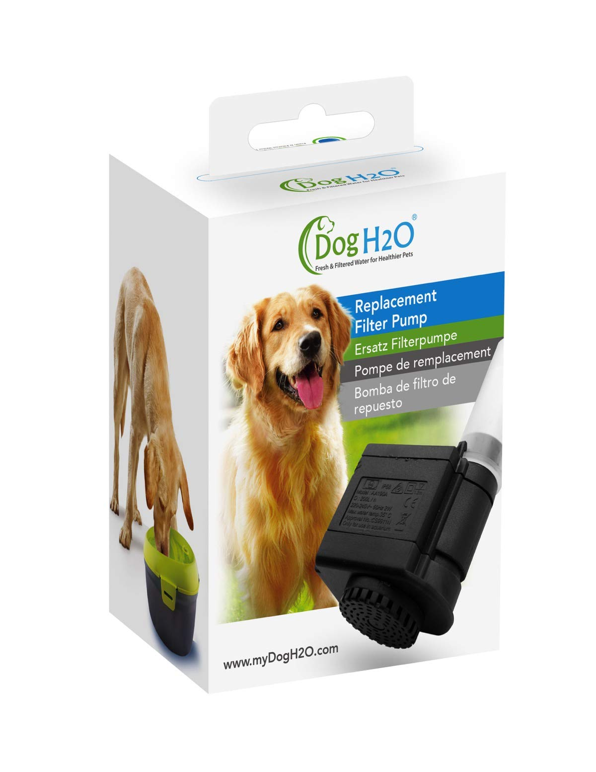 Dog H2O CHD190 Replacement Filter Pump, Black
