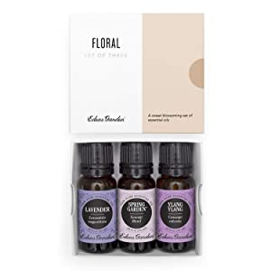 Edens Garden Floral Essential Oil 3 Set, Best 100% Pure Aromatherapy Bouquet Kit (For Diffuser & Therapeutic Use), 10 ml