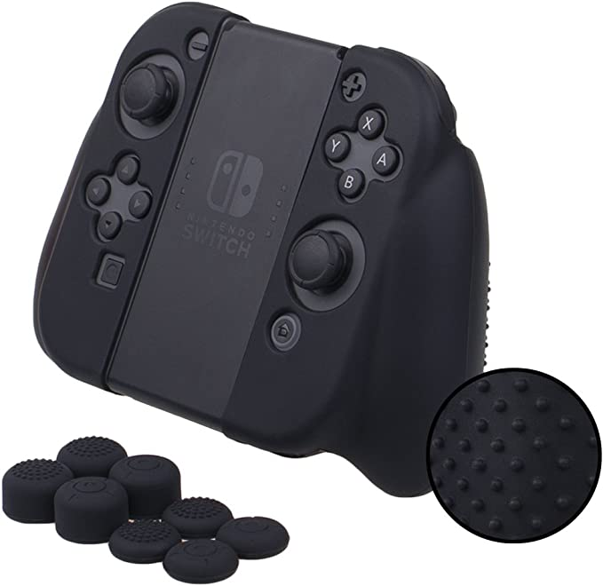 MXRC - Carcasa de Silicona para Nintendo Switch Joy-con Grip Control, Color Negro: Amazon.es: Electrónica