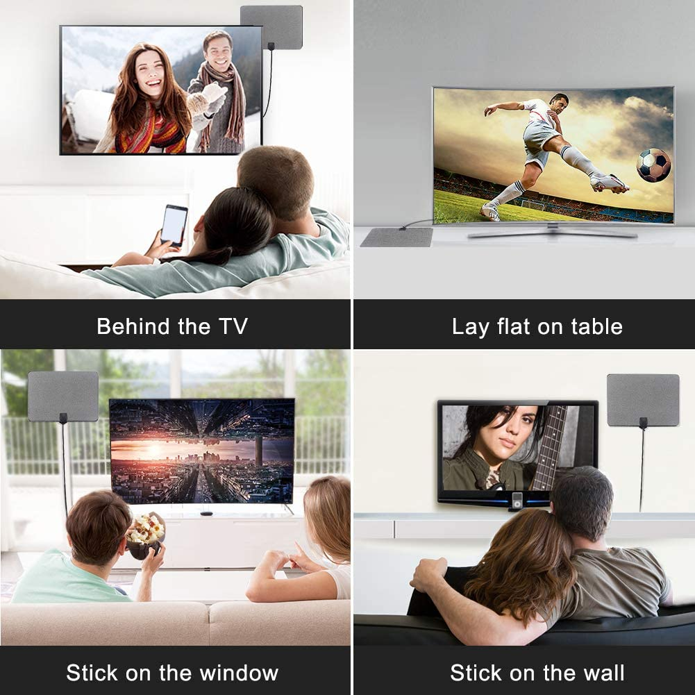 Mile Range with 4K 1080P HD VHF UHF Freeview TV for Life Local Channels Broadcast for All Types of Home Smart Television 2019 Newest TV Antenna,Indoor Amplified Digital HDTV Antenna 120