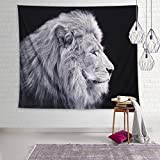 Dremisland Pineapple Printed Tapestries Wall Art Hanging Bohemian Tapestry Wall Hanging Throw (Lion)