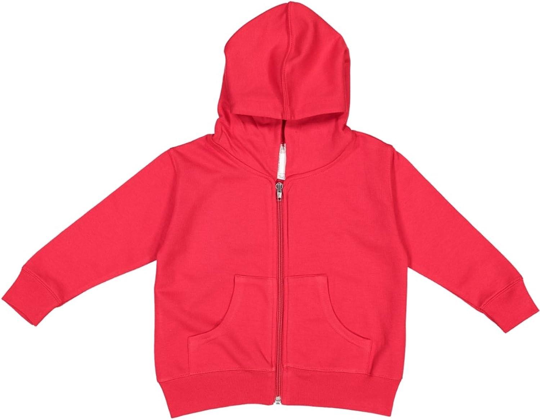 RABBIT SKINS Toddler Full-Zip Fleece Hooded Sweatshirt: Clothing