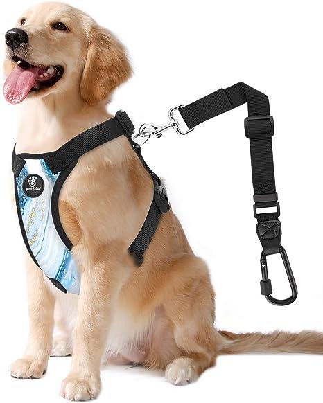 VavoPaw Cinturón de Seguridad de Coche de Perro, Talla L Arnés de ...