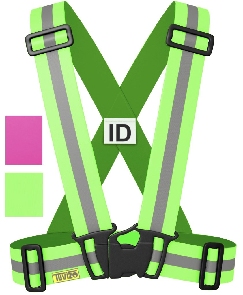 Tuvizo Reflective Vest for High Visibility All Day and Night with Emergency Identification Label. (Yellow, KIDS NEW)