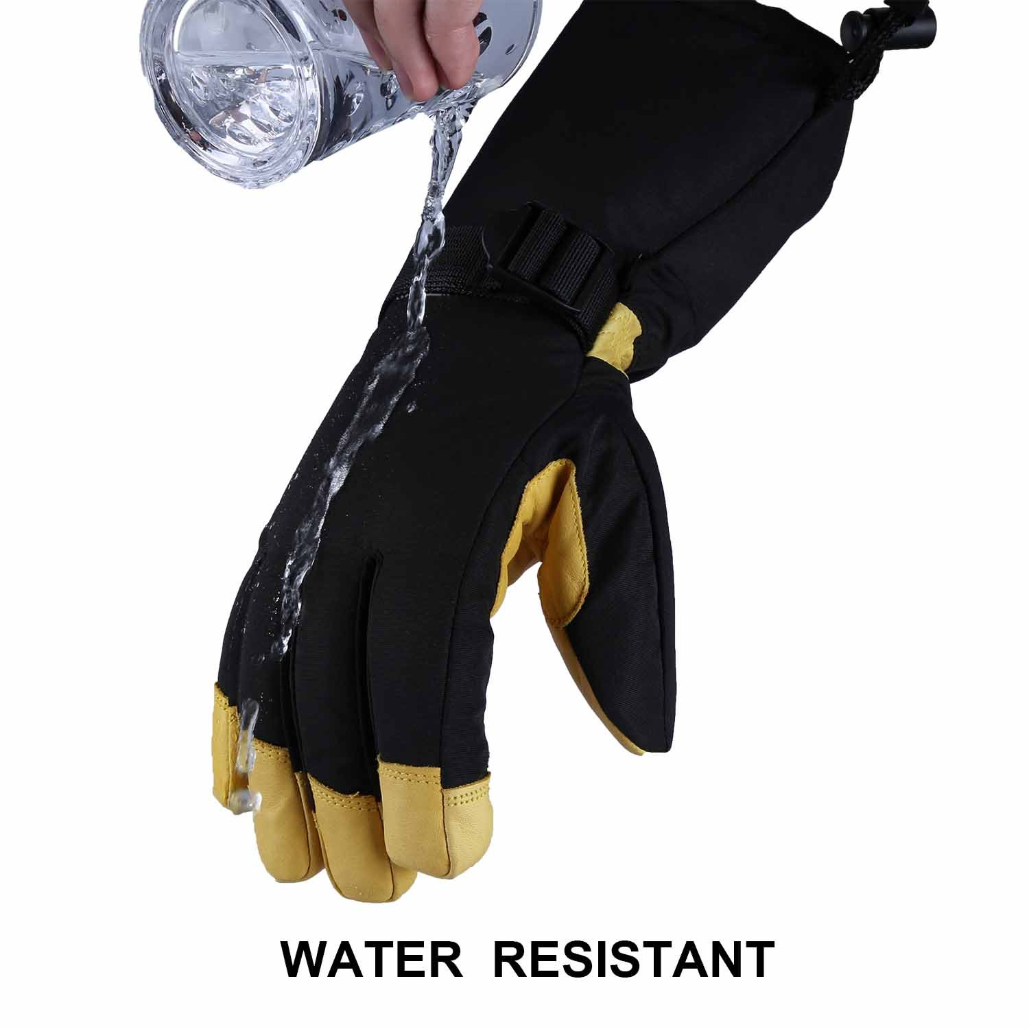 Mens ski gloves xxl - Amazon Com Ski Gloves Ozero 40 F Cold Proof Winter Thermal Glove For Men Women 150g 3m Thinsulate Insulation Insert And 5 Inch Extra Long Sleeve