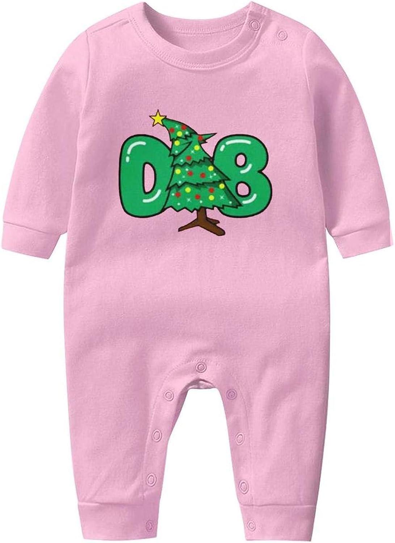 LHSCVJSEKL Dabbing Christmas Tree Baby Onesie Organic Cotton Cool Soft Newborn Long Sleeve Playsuit