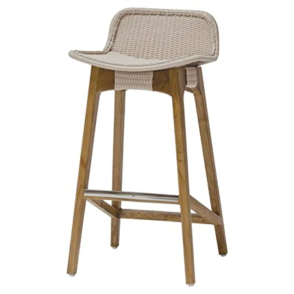 Admirable Amazon Com Kathy Kuo Home Sol Coastal Beach Beige Rope Teak Pabps2019 Chair Design Images Pabps2019Com