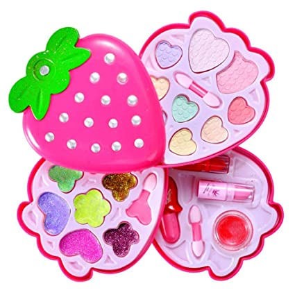 cd8e6e1073598 Amazon.com  chinatera Pretend Play Cosmetic and Makeup Set Lips Nail Art  Pigment Kit for Girls  Toys   Games