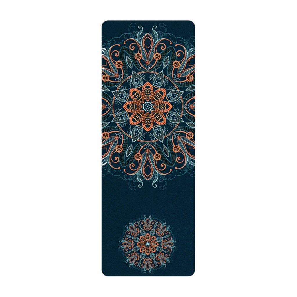 QINGTAOSHOP Persönlichkeit Yoga-Matte erweitert verlängert Fitness Camping Tanzmatte Anti-Rutsch-Schweiß-absorbierenden Blau 72,8  26,7  0,1in