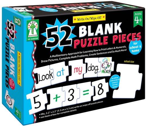 Carson-Dellosa Write-On/Wipe-Off: 52 Blank Puzzle Pieces (Carson Dellosa Puzzle)