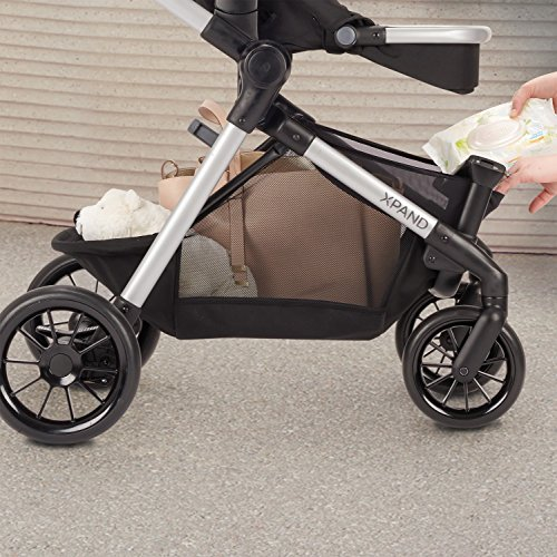 61rbYM sBvL - Pivot Xpand, Modular Baby Stroller, Converts To Double Stroller (Additional Toddler Seat Not Included), Percheron Gray