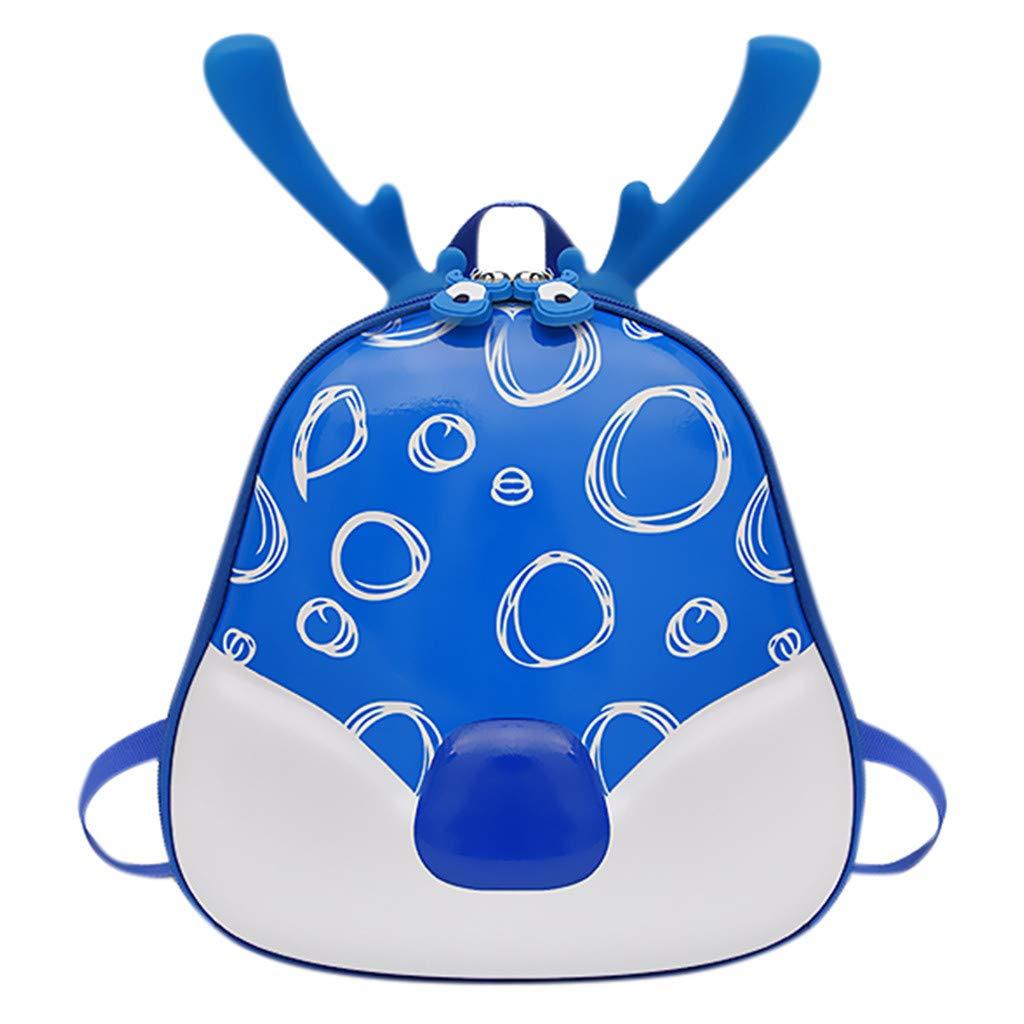 Cinhent バックパック 子供 男の子 女の子 カートゥーン フォーン アントラー キュート スクールバッグ B07MGWR9SW ブルー