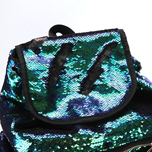 Bling Drawstring Bag Green Bag Women Backpack Soft Backpack Cute Bag Backpack Sequin FashionDouble Color LILICAT Fashion Mermaid Bag Sports School Girls Casual Shining pfqx0w4