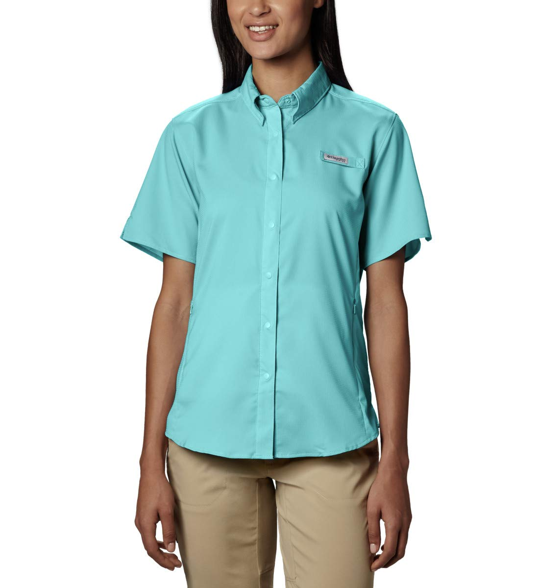 Columbia Women's Tamiami II Short Sleeve Shirt, Clear Blue, X-Large by Columbia