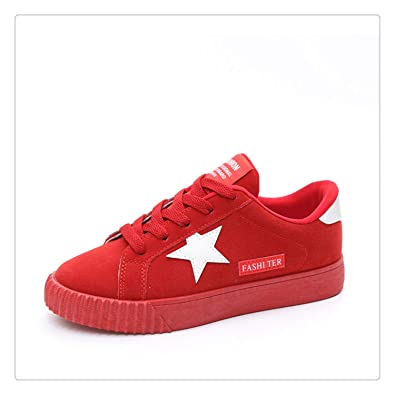eccaff5f0235 Image Unavailable. Image not available for. Color  Spring Women Sneakers  Plus Size Platform Flat Shoe Star Vulcanized Shoes Lace Up Female Casual  Fashion
