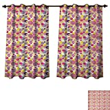 Best InterDesign Home Fashion Curtains 80 Wides - Anzhouqux Pastel Blackout Curtains Panels for Bedroom Memphis Review