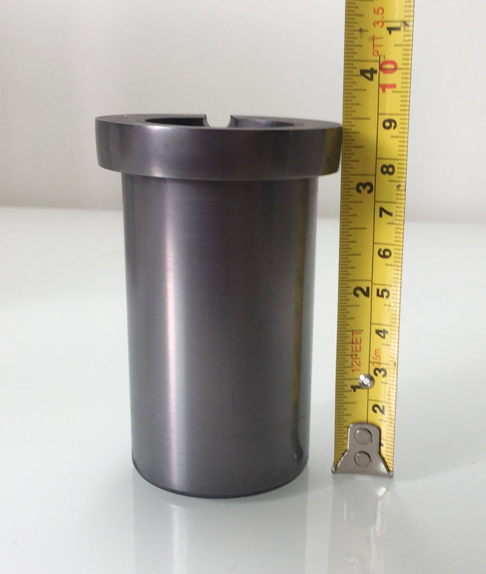 OTOOLWORLD 99.9% Pure Graphite Crucible Metal Melting Gold Silver Scrap Casting Ingot Mould (4kg Graphite Crucible)