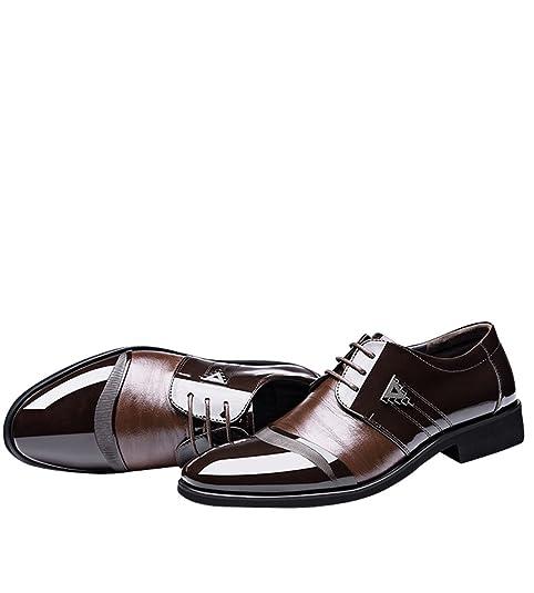 Scarpa Uomo in Pelle, Mocassini Uomo, Scarpa per Affari Elegante Punta di Piedi Oxfords Comfort Pelle Sintetica Vestito Scarpe Stivali