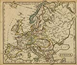 1826 School Atlas | Europe. (Boston: Hilliard, Gray, Little and Wilkins, 1826) | Antique Vintage Map Reprint