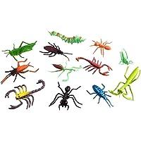 Toyvian 12 Piezas de plástico Juguetes de Insectos Mini Insectos Animales Figuras Juguetes para niños Mascotas (Color y patrón al Azar)