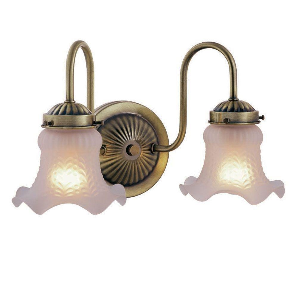 Antique Brass 2-Light Vanity