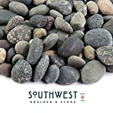 Southwest Boulder & Stone Landscape Rock and Pebble | 20 Pounds | Natural, Decorative Stones and Gravel for Landscaping, Gardening, Potted Plants, and More (Mixed Mexican Beach Pebble, 3/8 Inch)
