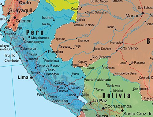 Swiftmaps South America Wall Map GeoPolitical Edition by 18x22 Paper
